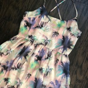Tropical palm tree dress
